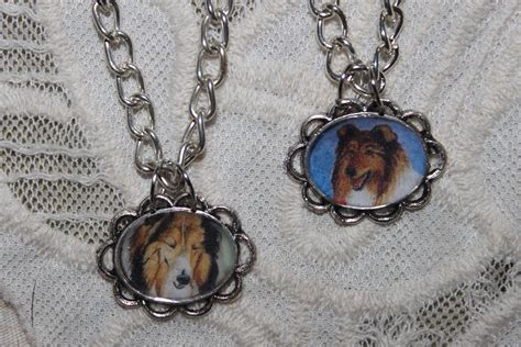 collie necklaces  dog lovers dogs fan art