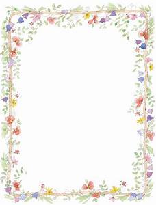 Free page border templates clipartsco for Flower borders for word