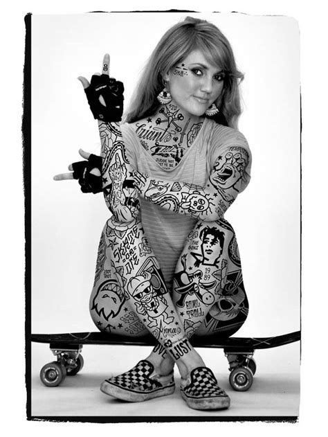 skater tattooed girls designbump