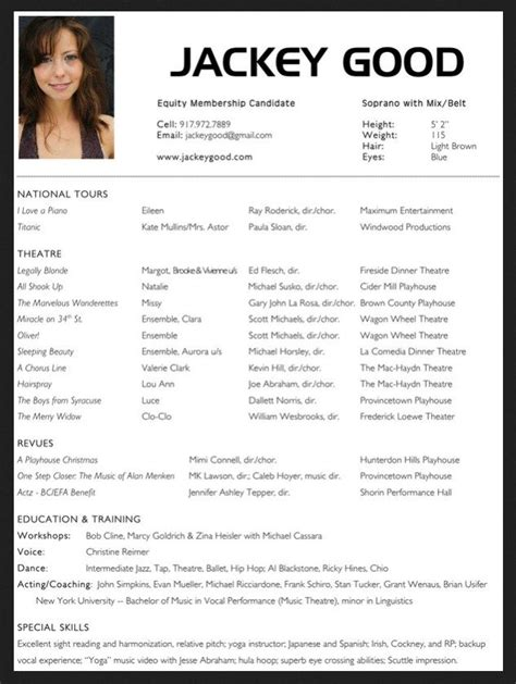 acting resume template  microsoft word http