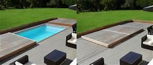 terrasse piscine mobile le rolling deck piscinelle With piscine sous terrasse amovible 9 piscine bois avec escalier