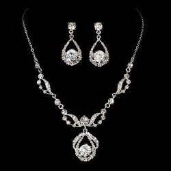 bridesmaid gifts jewelry diamante bridal jewelry set silver rhinestone necklace earring set ebay