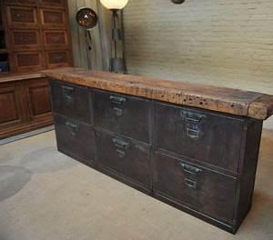 ancien meuble bas tiroirs a bascule 1950 recup With meuble 1950