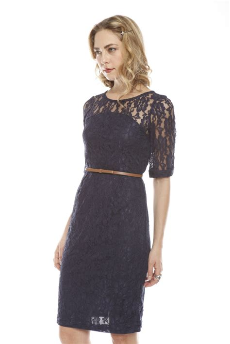 dress with belt sugarhill navy lace dress with belt from nolita by
