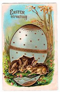 Halloween Labels Free Victorian Graphic Easter Bunnies In Egg The
