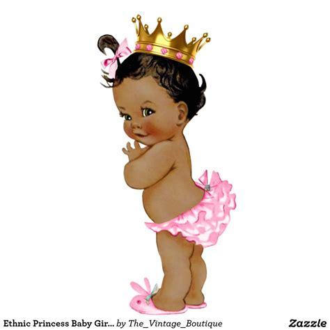 Ethnic Princess Baby Girl Shower Statuette  Baby Girl