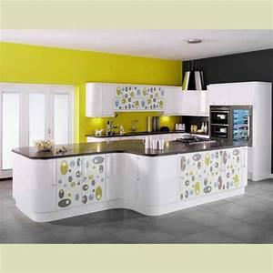 kitchen fabulous white modular kitchen with black With kitchen colors with white cabinets with design graffiti stickers