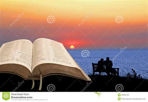 open bible spiritual tranquility stock photo image