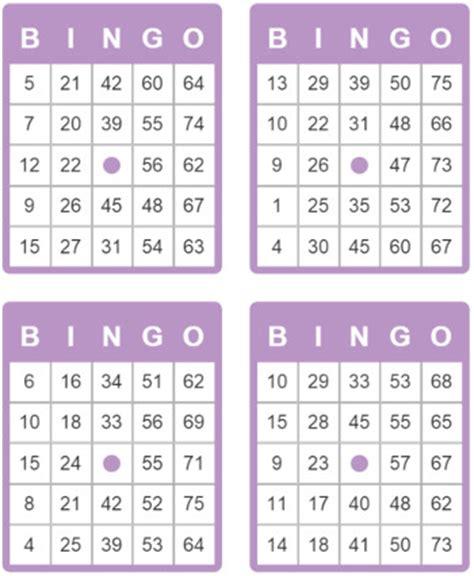 tarjetas de bingo de 75 bolas