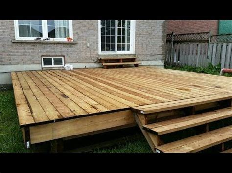 floating deck  easy step  step instructions