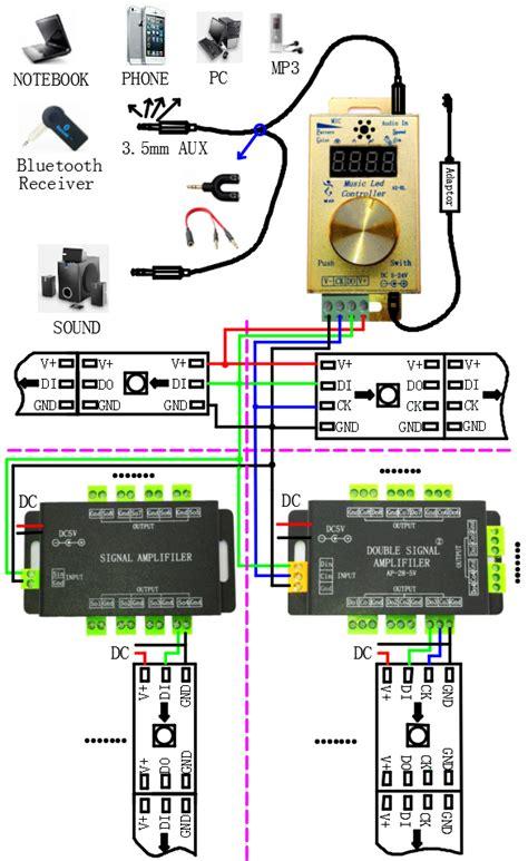 led spi controller built in 150 programs 600 pixels led display dc5 24v ws2811