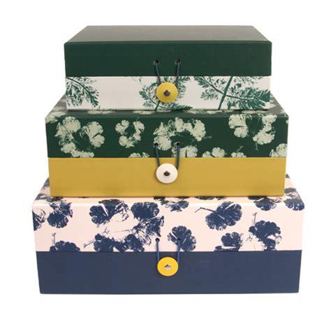 emploi valet de chambre boîte de rangement en motifs colorés par 3