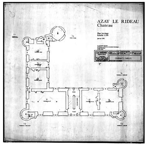 chateau d azay le rideau plan of floor architectural plans and drawings
