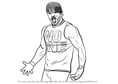 learn   draw aj styles wrestlers step  step drawing tutorials