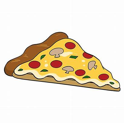 Pizza Draw Drawing Cheese Slice Easy Step