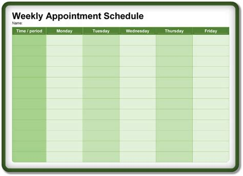 8+ Appointment Schedulingscheduler Templates Download