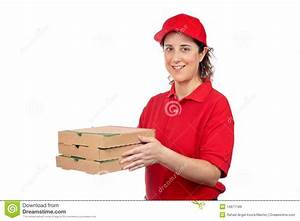 Pizza delivery woman stock image. Image of dinner, pizza ...