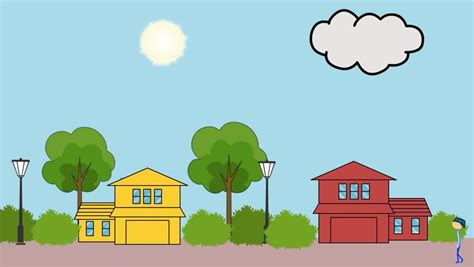 Day And Night. Cartoon. Seamless Loop. Beautiful 3d
