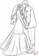 Groom Coloring Bride Printable Drawing Draw Barbie Tutorials Supercoloring Step Colouring Adult Sheets Sheet Drawings Games Paper Crafts Colours sketch template