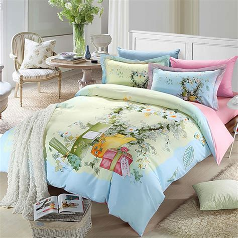 pink bedding pink light blue flowers bedding set ebeddingsets Light