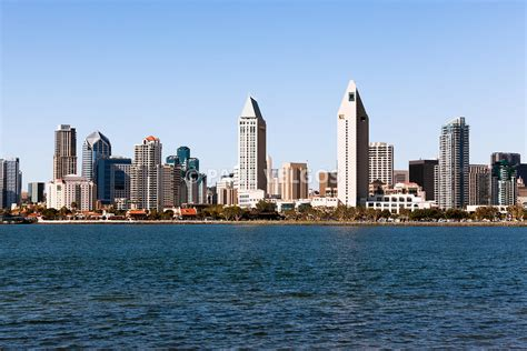 Image San Diego City Skyline Large Canvas Print Buy