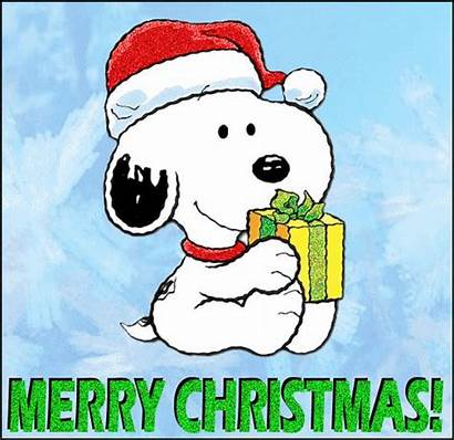 Merry Christmas Snoopy Animated Happy Woodstock Gifs