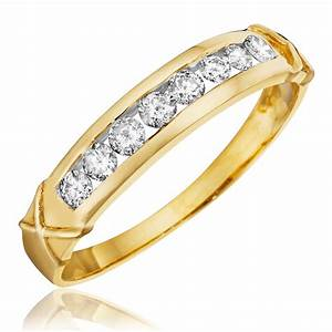 13 CT TW Diamond Women39s Wedding Band 10K Yellow Gold