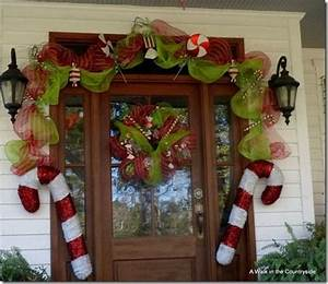 A Walk in the Countryside Front Door decorated in Candy