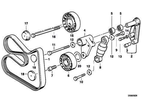 original parts for e36 320i m50 sedan engine belt drive