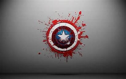 Superhero Cartoon America Captain Circle Brand Graphic