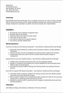 1 business planning manager resume templates try them With business plan writer resume