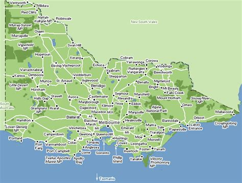 victoria map australia