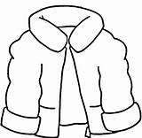 Line Winter Clothes Draw sketch template