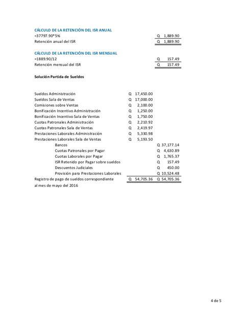 ejemplo de calculo anual de isr sueldos y finiquito