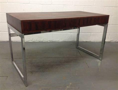 milo baughman rosewood desk milo baughman style rosewood and chrome desk for sale at