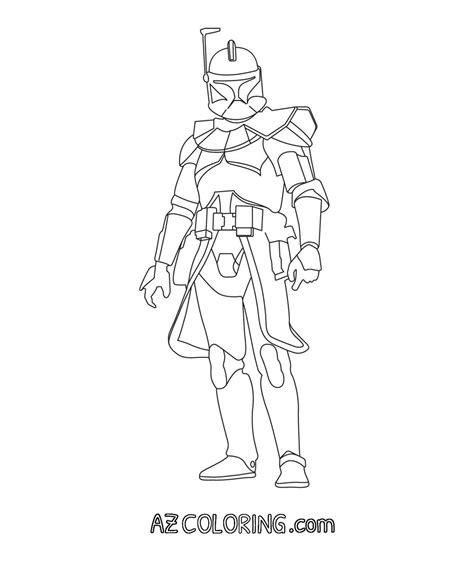Captain Rex Coloring Page - Eskayalitim