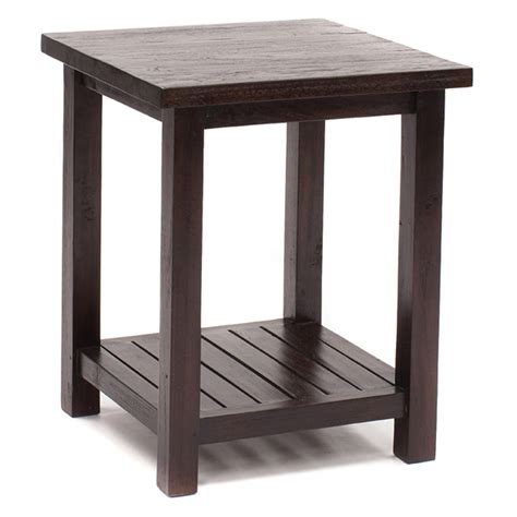 java this versatile square side table in rustic teak can