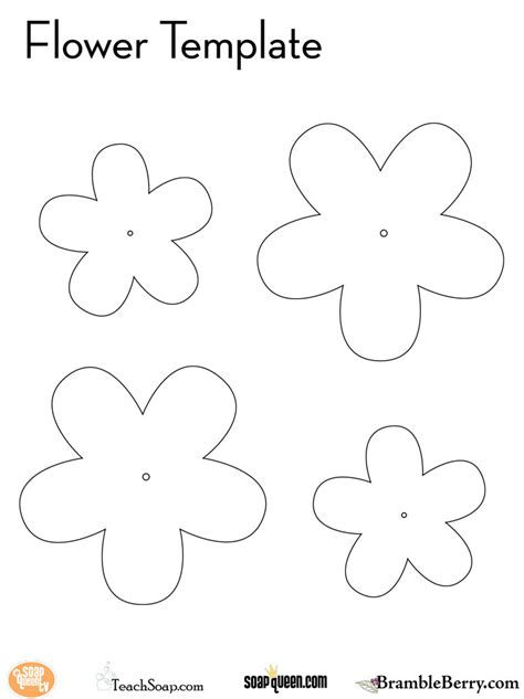flower template bramble berry soap making supplies