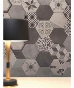 carrelage imitation carreaux de ciment en hexagone marque With carreaux de ciment hexagonaux