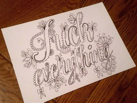 artist creates hilarious sweary coloring book  adults