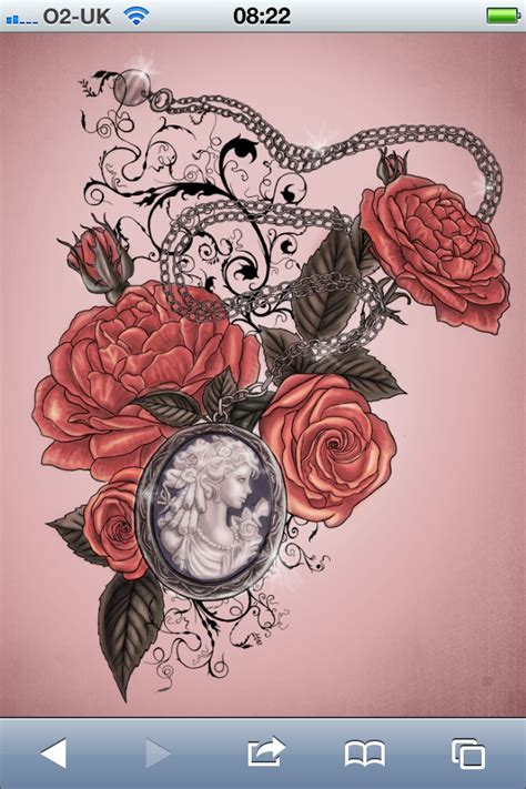 cameo rose tattoo    withy mothers cameo portrait