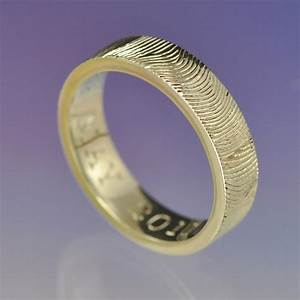 Personalised fingerprint ring custom wedding ring your print for Wedding ring with fingerprint
