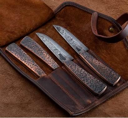 Copper Knife Steak Hammered Knives Eatingtools Steel