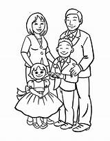 Coloring Draw Drawing Easy Pages Drawings Happy Sketch Cartoon Clipart Members Sky Tree Colouring Coloringsky Familia Joint Sheet Member Preschool sketch template