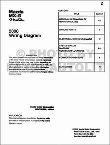 199mazda Mx 5 Miata Wiring Diagram Manual Original Both Automatic And Manual