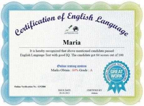 certificate english certificates templates