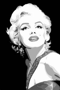 Marilyn Monroe, Black and White Art. | Anything ...