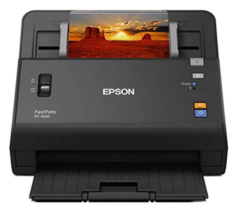photo scanner with feeder epson fastfoto ff 640 high speed photo scanning system