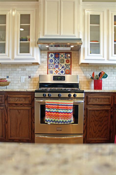 spanish kitchen design  talavera tile  travertine