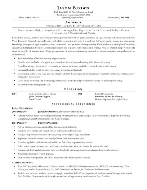 Exle Of Entry Level Paralegal Resume by 2016 Sle Paralegal Resume Recentresumes
